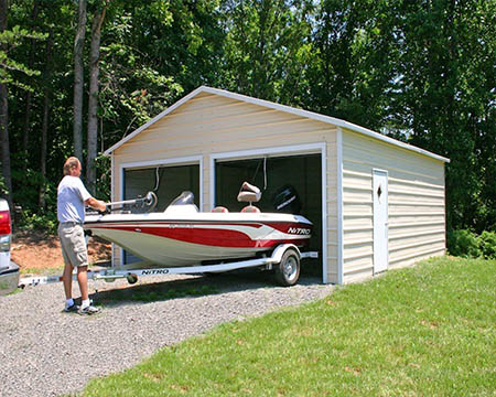 Metal buildings and carports for Boat storage garage