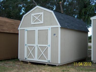 10' x 12' Lofted Barn with Black roof