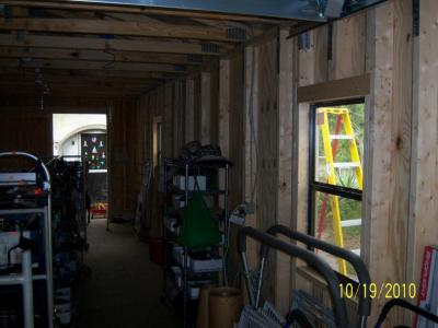 12' x 32' Utility Garage being finished inside