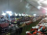 Night time in the Tool Tent