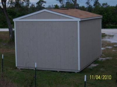 Rear of the Utility Shed